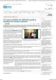 28/05/2013 Reprecusion proyecto europeo del VII Programa ... - OTRI