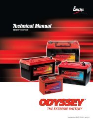 Technical Manual - ODYSSEY Batteries