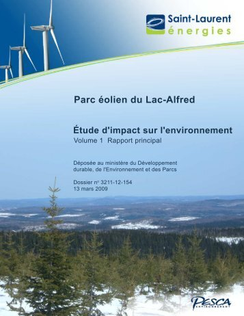 Étude d'impact, rapport principal, 13 mars 2009 ... - EDF EN