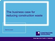 The business case for reducing construction waste - Constructing ...