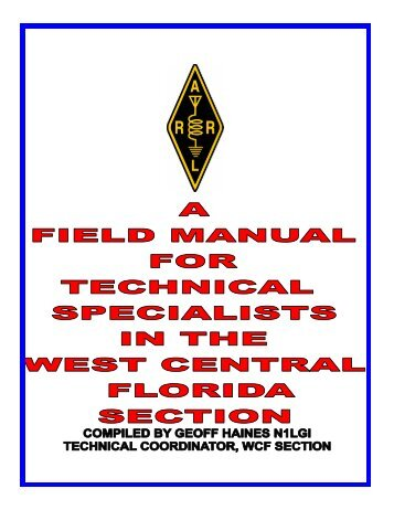Field Manual for Technical Specialists - West Central Florida Section ...