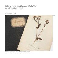 Et hundre år gammelt herbarium fra Ryfylke forteller jordbrukshistorie