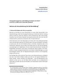 Inklusion als Herausforderung für die Wertebildung - Comenius-Institut