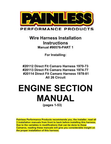 1970 1973 camaro 18 circuit chassis harness painless wiring?quality=85 circuit diagrams for multi wiring harness ii e46 all 5878 painless 18 circuit wiring harness instructions at couponss.co