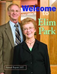 Annual Report 2007 - Elim Park