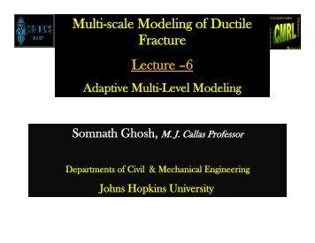 Adaptive Multi-Level Modeling - CISM