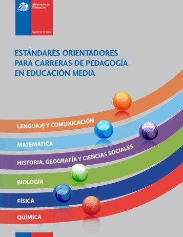 ESTÁNDARES ORIENTADORES PARA CARRERAS DE - Emol.com