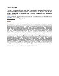 Phase I dose-escalation and pharmacokinetic study of ispinesib, a ...