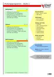 SENKI Prüfungsprogramm 1-2013 - SENKI Martial Arts ...