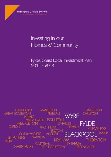 Fylde Coast Local Investment Plan 2011 - Blackpool Council