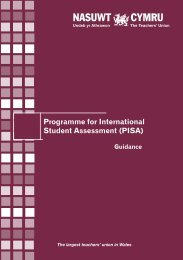 Guidance on PISA Wales English - NASUWT