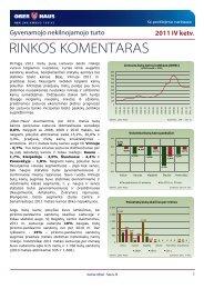 Gyvenamojo NT rinkos komentaras 2011 m. IV ketv. - Ober-Haus