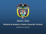 Ministerio de Ambiente, Vivienda y Desarrollo Territorial - WSP