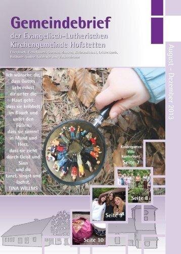 August - Nov 2013 - hofstetten-evangelisch.com