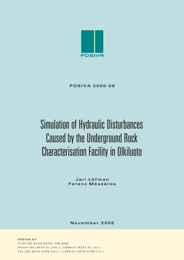 Simulation of Hydraulic Disturbances Caused by the ... - Posiva