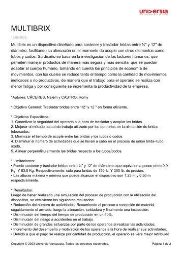 MULTIBRIX - Noticias - Universia Venezuela