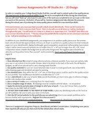 Summer Assignments for AP Studio Art – 2D Design - RC Artkids
