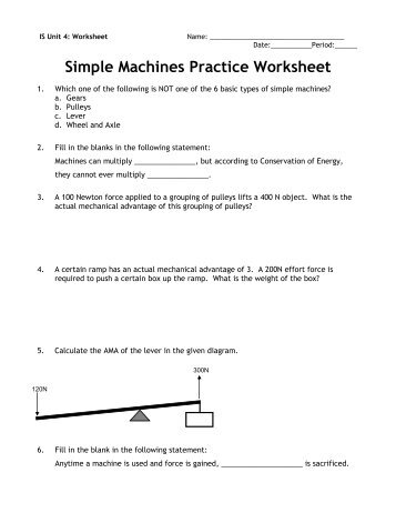 activity 1 1 2 simple machines practice problems Create a free website powered by.