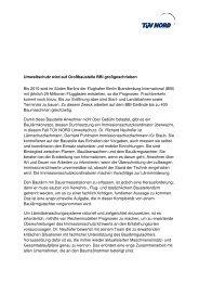 Umweltschutz wird auf Großbaustelle BBI ... - TÜV Nord
