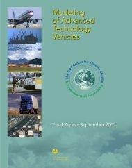 Modeling of Advanced Technology Vehicles - DOT Transportation ...