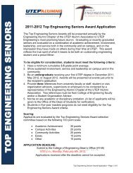Application - College of Engineering - University of Texas at El Paso