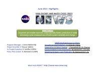 June 2011 Highlights - NEWS (The NASA Energy and Water cycle ...