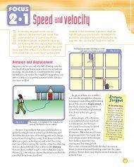 Focus 2.1 - Speed and Velocity