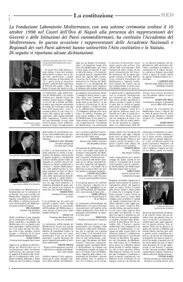 La costituzione - Fondazione Mediterraneo