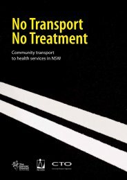 Community transport to health services in NSW - NCOSS