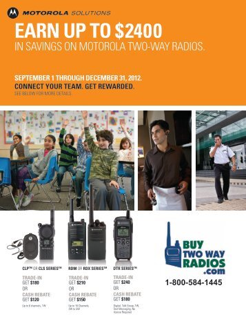 EARN UP TO $2400 - Buy Two Way Radios