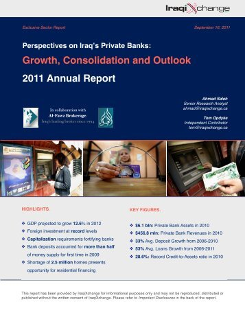 Perspective on Iraq's Private Banks - Iraq Business News