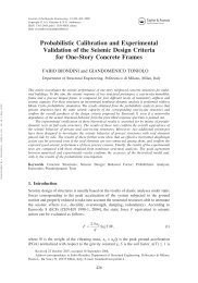 Probabilistic Calibration and Experimental Validation of the Seismic ...