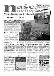 Číslo 1 - naše noviny archiv