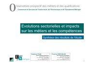Evolutions sectorielles et impacts sur les métiers et les ... - Agefos PME