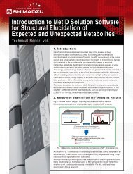 Introduction to MetID Solution Software for Structural ... - Shimadzu