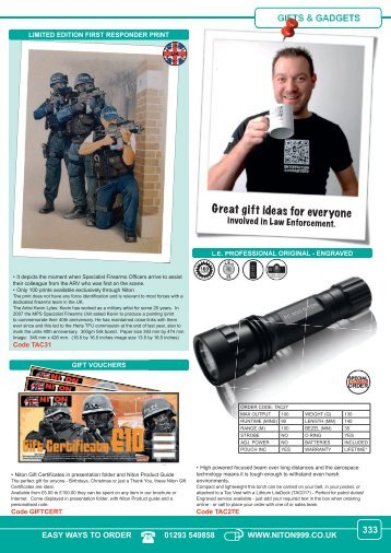Great gift ideas for everyone - Niton 999 Equipment