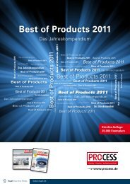 Best of Products 2011 - Process - Vogel Business Media