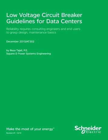 AT302 – Low Voltage Circuit Breaker Guidelines for Data Centers ...