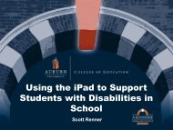Using the iPad to Support Students with Disabilities in School