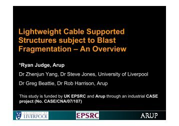 Lightweight Cable Supported Structures subject to Blast ... - ukelg