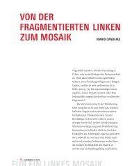 Mario Candeias: Von der fragmentierten Linken zum Mosaik