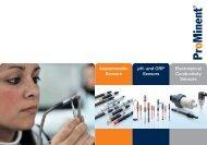 Amperometric Sensors pH - and ORP Sensors Electrolytical ...
