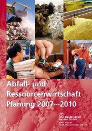 Ressourcenwirtschaft Planung 2007 bis - geopartner.ch