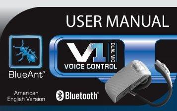 User Manual - English (PDF, 1.5 MB) - BlueAnt Wireless