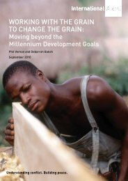 Working with the Grain to Change the Grain - Chede Cooperative ...
