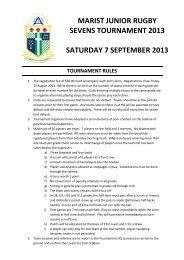 2013 Tournament Rules - Manawatu Rugby