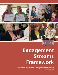 Engagement Streams Framework - National Coalition for Dialogue ...