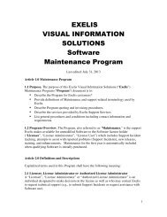 Software Maintenance and Technical Support Policy - Exelis Visual ...