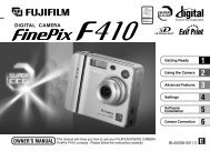 FinePix F410 Owner's Manual - Fujifilm Canada