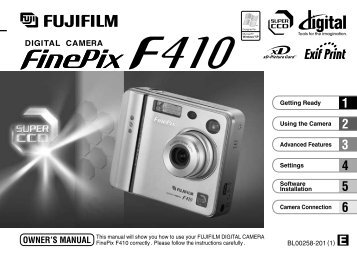 FinePix F410 Owner's Manual - Fujifilm Canada